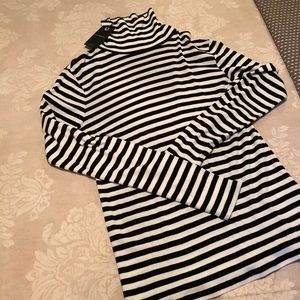 Lucky Brand Striped T-neck- never been worn!